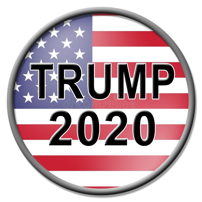 Republikaner-Kandidat des Trumpf-2020 für Präsidenten Nomination - Illustration 3d lizenzfreie abbildung
