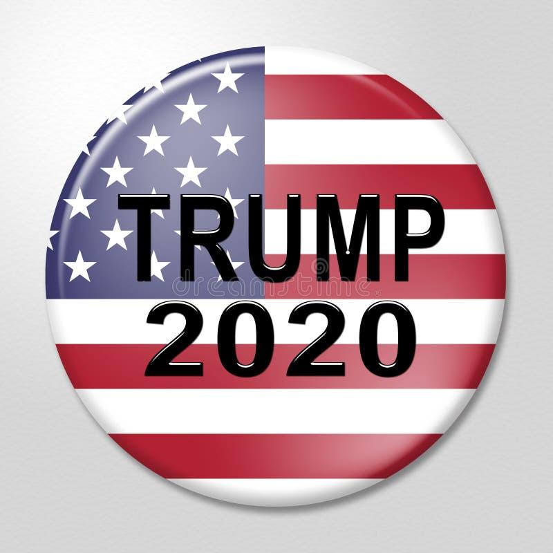 Republikaner-Kandidat des Trumpf-2020 für Präsidenten Nomination - Illustration 3d vektor abbildung