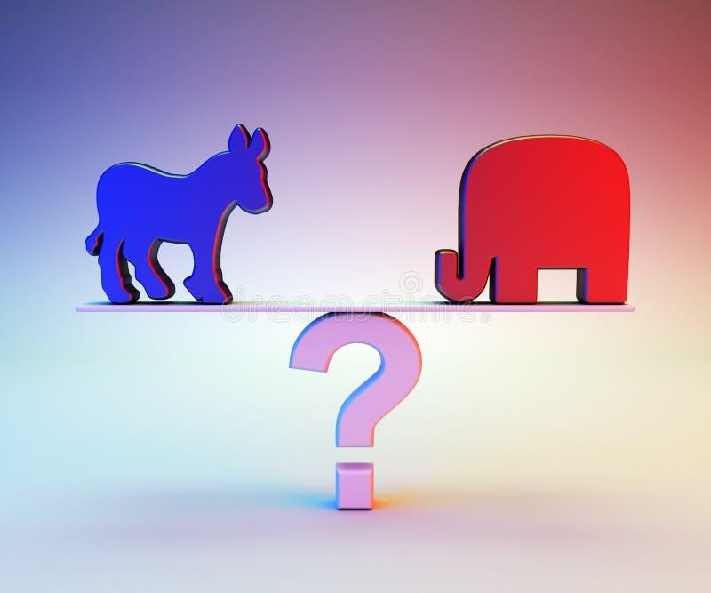 Republikanin lub Demokrata ilustracja wektor