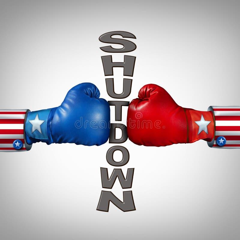 Republikanina Demokrata zamknięcie ilustracja wektor