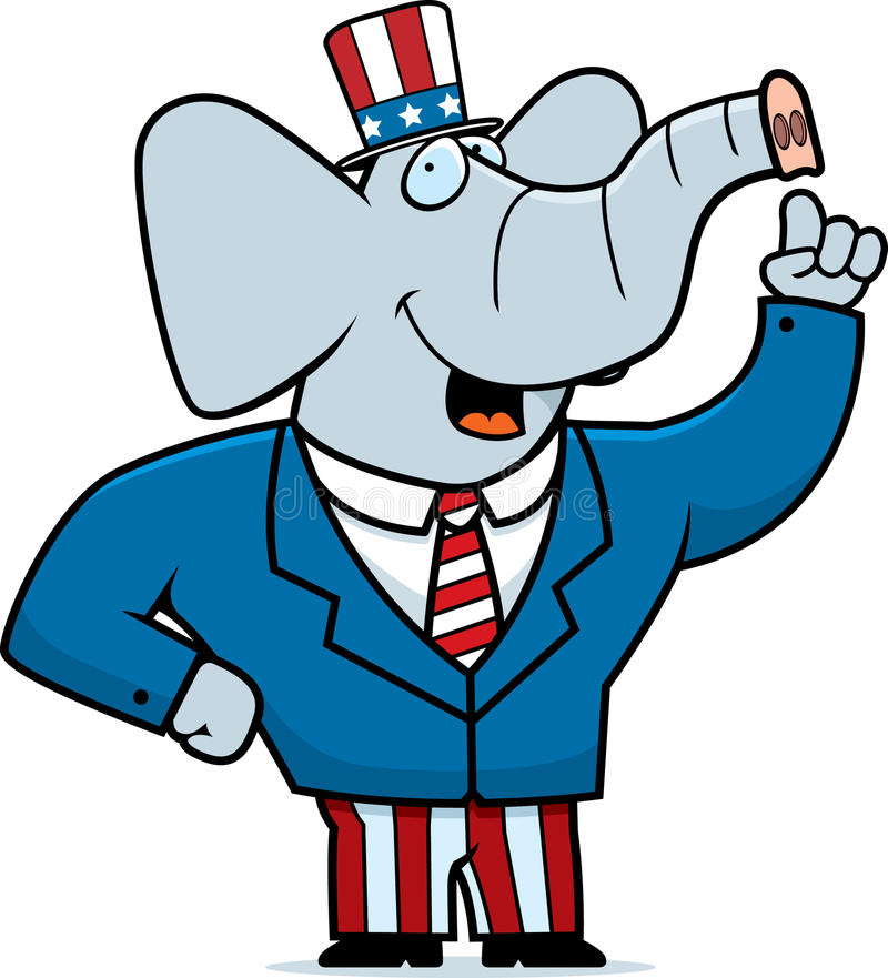 Republikanischer Elefant vektor abbildung