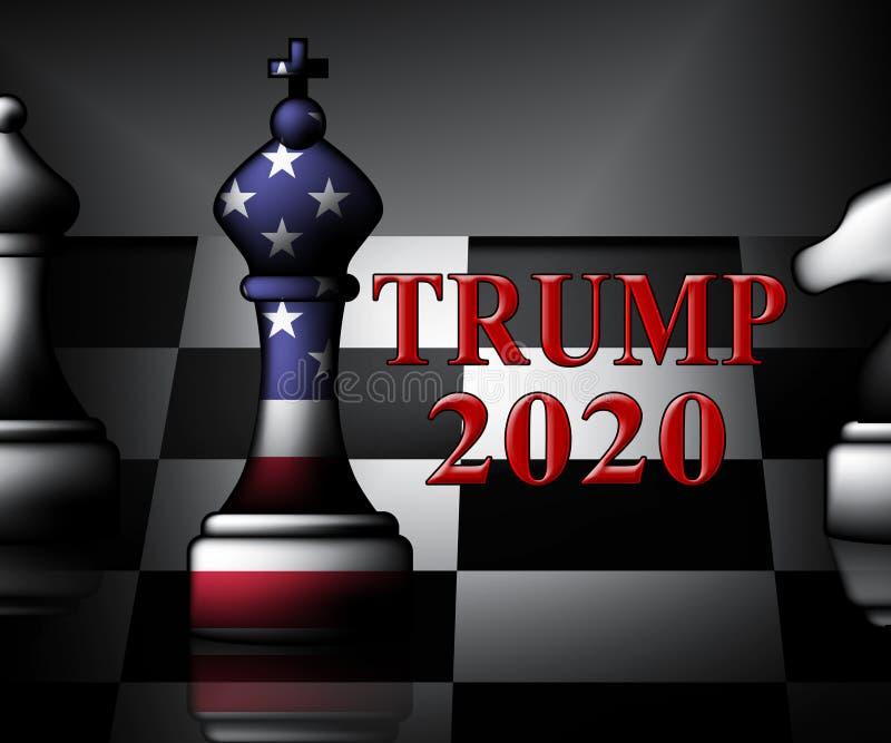 Republikanischer Kandidat des Trumpf-2020 für Ernennung zum Präsidenten - Illustration 3d lizenzfreie abbildung