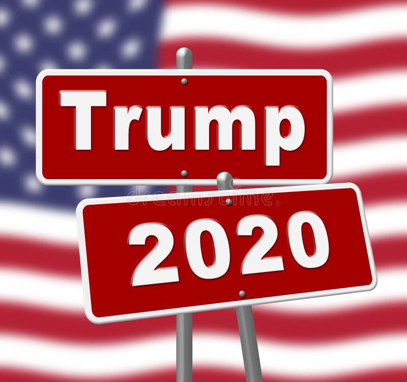 Republikanischer Kandidat des Trumpf-2020 für Präsidenten Nomination - 2d Illustration lizenzfreie abbildung