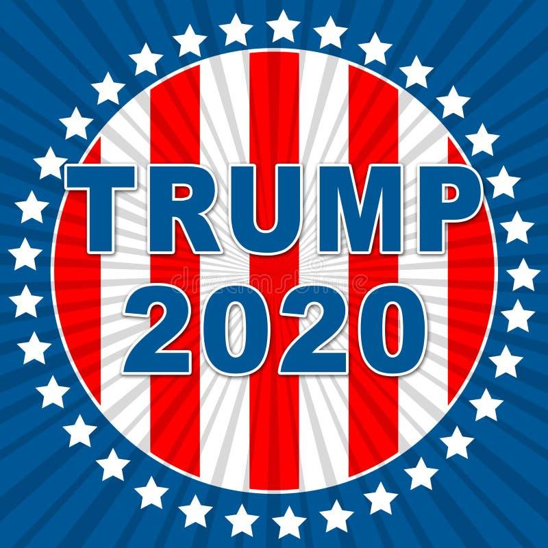 Republikanischer Kandidat des Trumpf-2020 für Präsidenten Nomination - 2d Illustration vektor abbildung