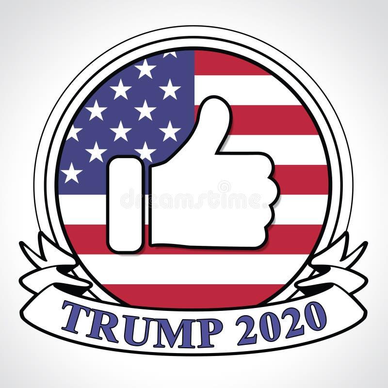 Republikanischer Kandidat des Trumpf-2020 für Präsidenten Nomination - 2d Illustration - 2d Illustration lizenzfreie abbildung