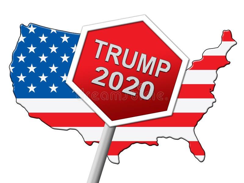 Republikanischer Kandidat des Trumpf-2020 für Präsidenten Nomination - 2d Illustration stock abbildung