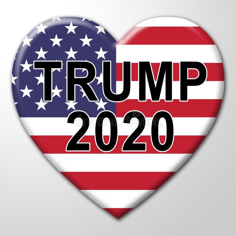 Republikanischer Kandidat des Trumpf-2020 für Präsidenten Nomination - Illustration 3d lizenzfreie abbildung