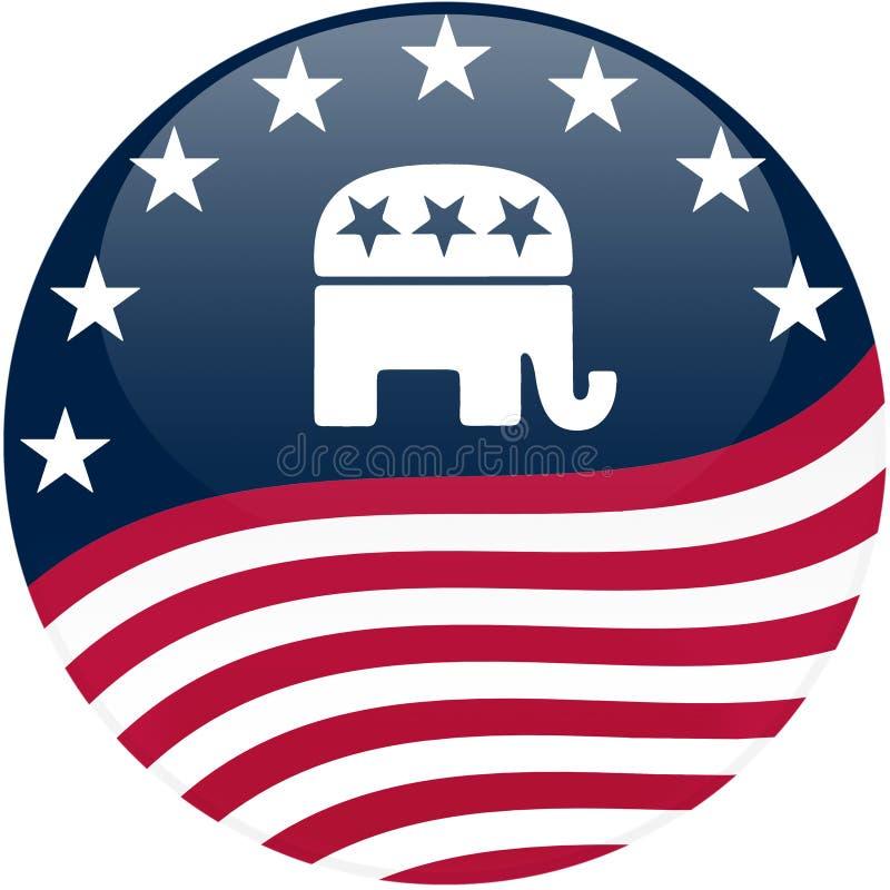republikansk våg för knappflagga stock illustrationer
