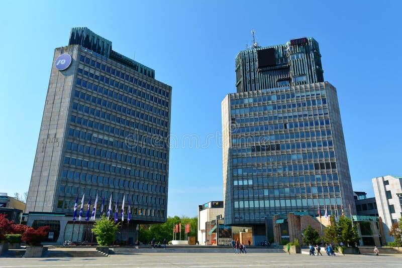 republike的Trg,卢布尔雅那 免版税库存照片