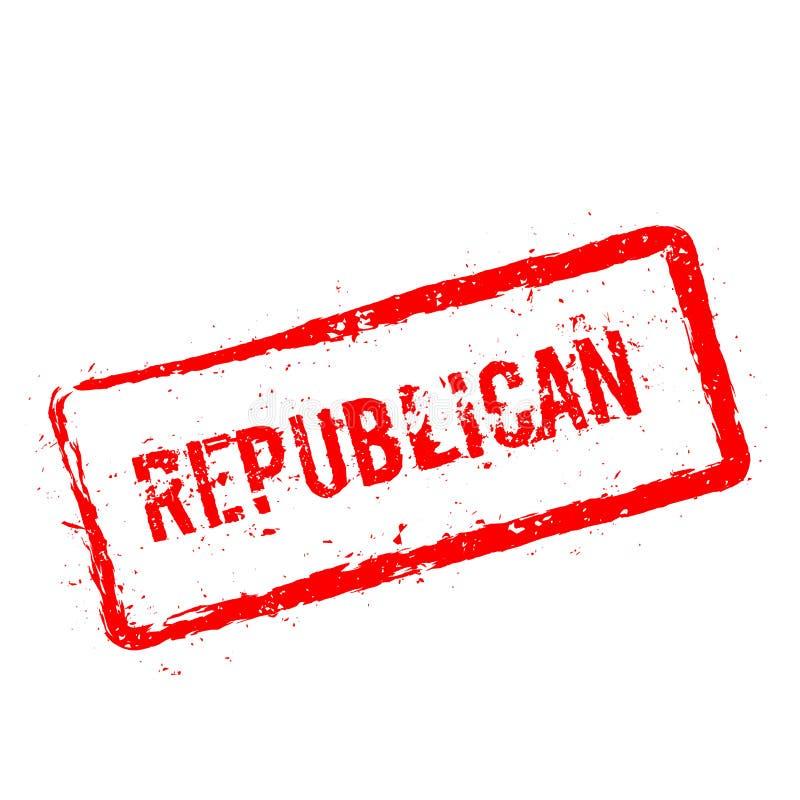 Republikeinse rode rubberdiezegel op wit wordt geïsoleerd vector illustratie