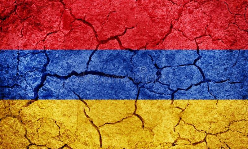 Republiken Armenien flagga arkivbilder