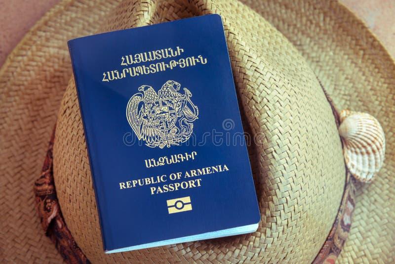 Republiken Armenien pass, lopp arkivbilder