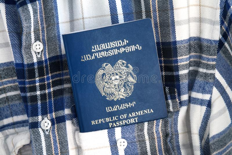 Republiken Armenien pass, semesterbegrepp royaltyfri fotografi