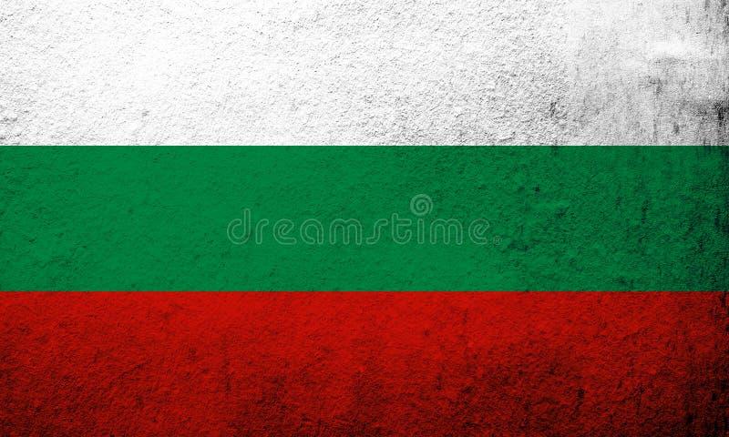 Republiken Bulgarien nationsflagga Kan användas som en vykort royaltyfri illustrationer