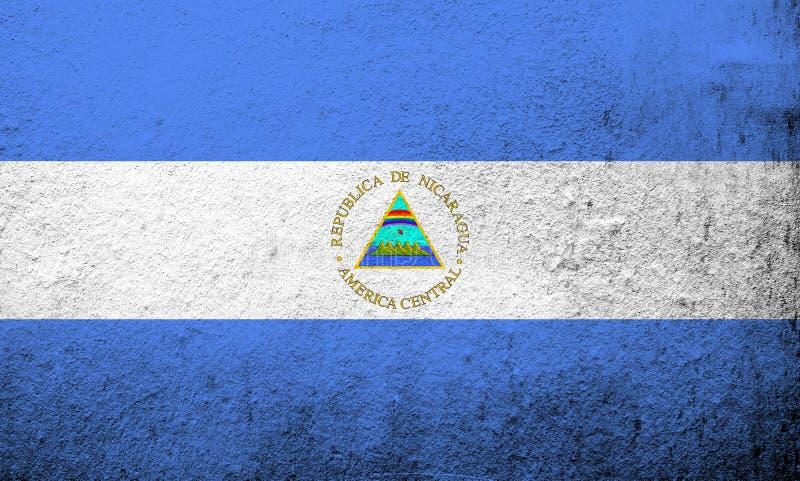 Republiken Nicaragua nationsflagga Kan användas som en vykort arkivfoto