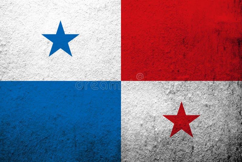 Republiken Panama nationsflagga Kan användas som en vykort royaltyfri illustrationer
