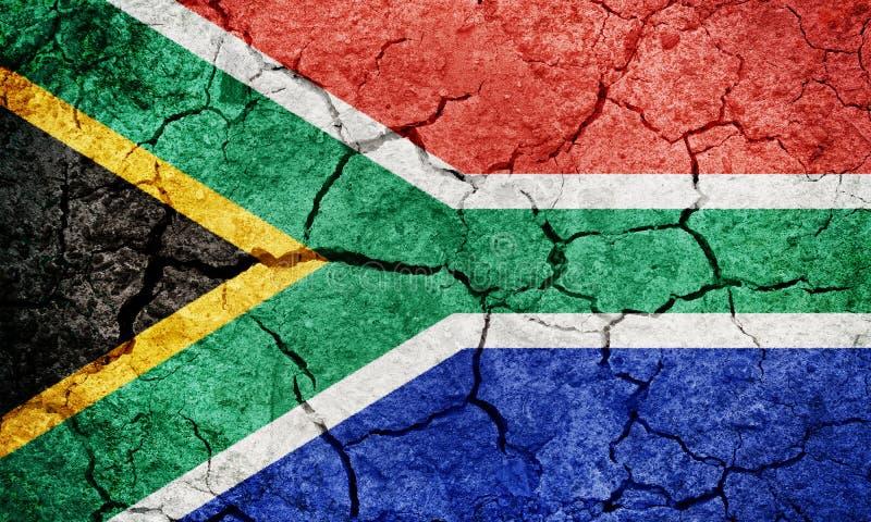 Republiken Sydafrika flagga royaltyfri illustrationer