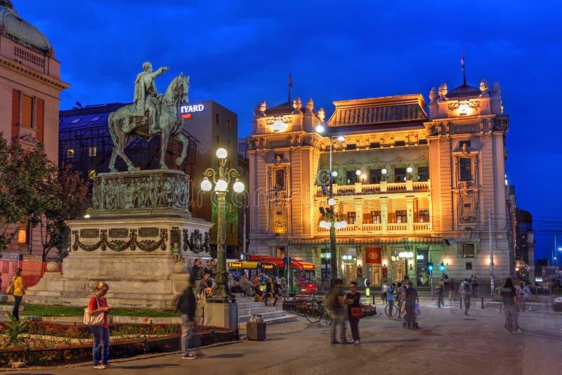 Republikfyrkant, Belgrade, Serbien royaltyfria bilder