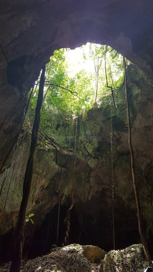 Republiki Dominikańskiej jamy otwarcie zdjęcia stock