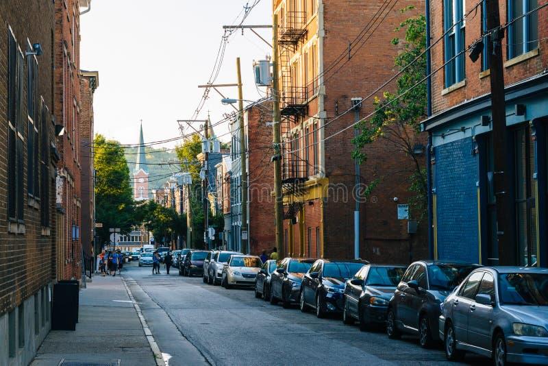 Republiki ulica wewnątrz nad - Rhine, Cincinnati, Ohio zdjęcia stock
