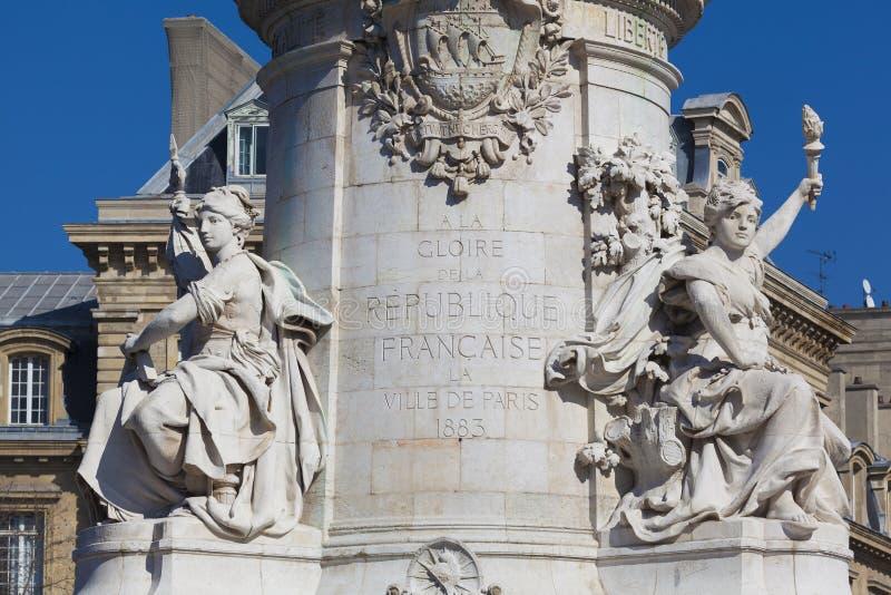 Republique w Paryż zdjęcia royalty free
