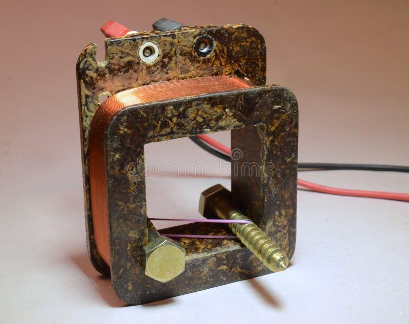 Repulsione magnetica fotografia stock libera da diritti