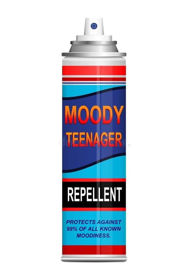 Repulsivo adolescente del moodiness. stock de ilustración