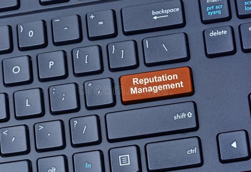 Reputaci zarządzania słowa na klawiaturze zdjęcie stock