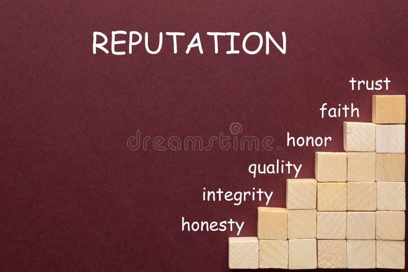 Reputacja diagrama pojęcie ilustracji