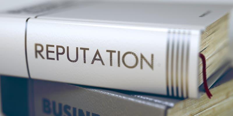 reputacja Książkowy tytuł na kręgosłupie 3d zdjęcie stock