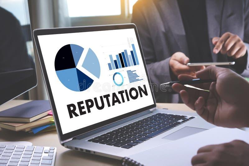 REPUTACJA rankingu honoru reputaci zarządzania Popularny Oznakować zdjęcia stock