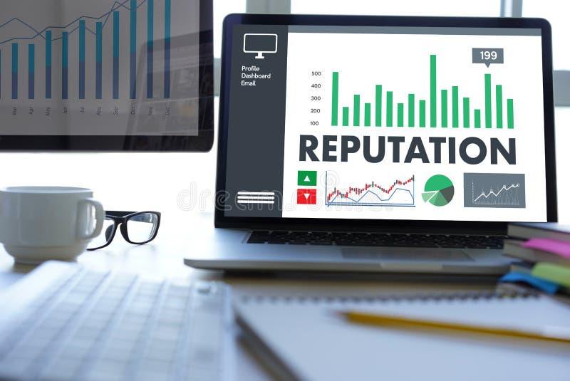 REPUTACJA rankingu honoru reputaci zarządzania Popularny Oznakować obraz stock