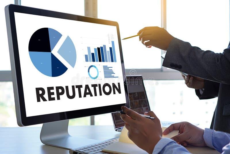 REPUTACJA rankingu honoru reputaci zarządzania Popularny Oznakować zdjęcie stock