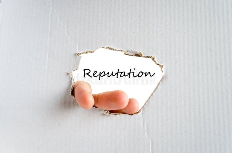 Reputacja teksta pojęcie zdjęcie royalty free