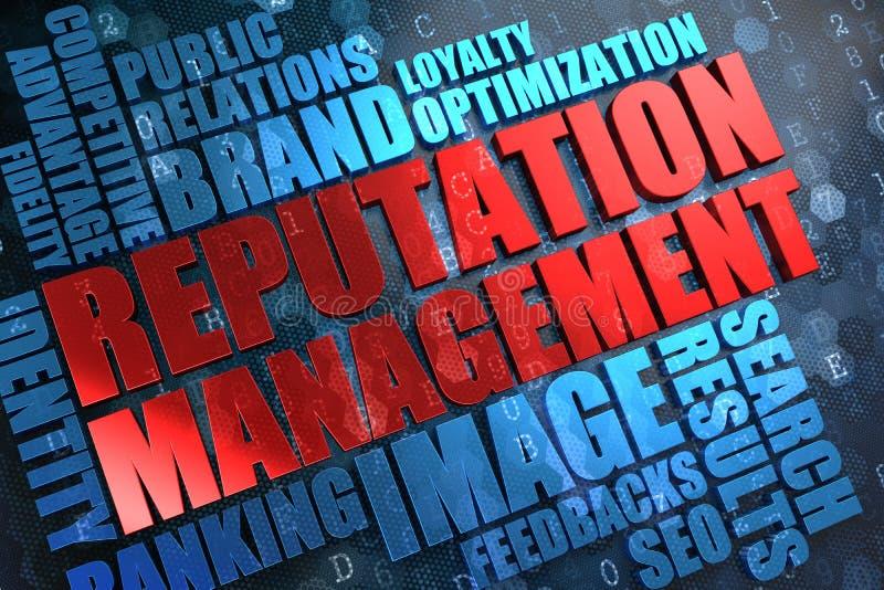 Reputation Management - Wordcloud Concept. Reputation Management - Red Main Word with Blue Wordcloud on Digital Background