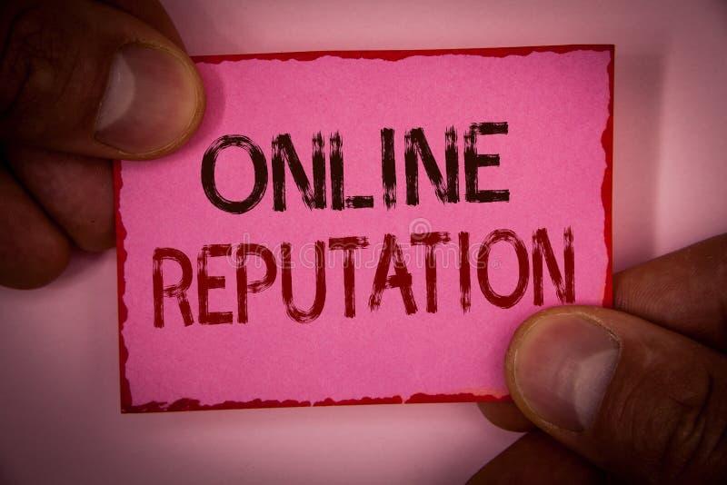 Reputazione online del testo della scrittura La qualità della soddisfazione di valutazione di esame del posto dell'affidabilità d immagini stock