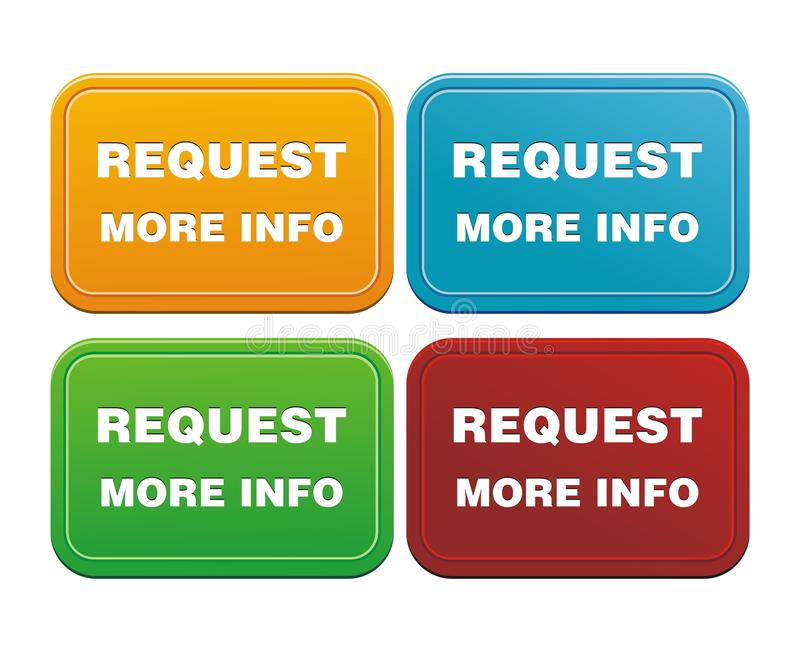 Download Request more info button stock illustration. Illustration of metal - 33110681