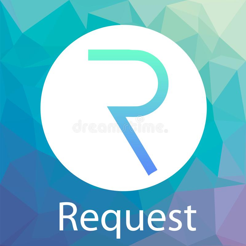 Request Network REQ vector logo. A decentralized network for payment requests and crypto currency. vector illustration