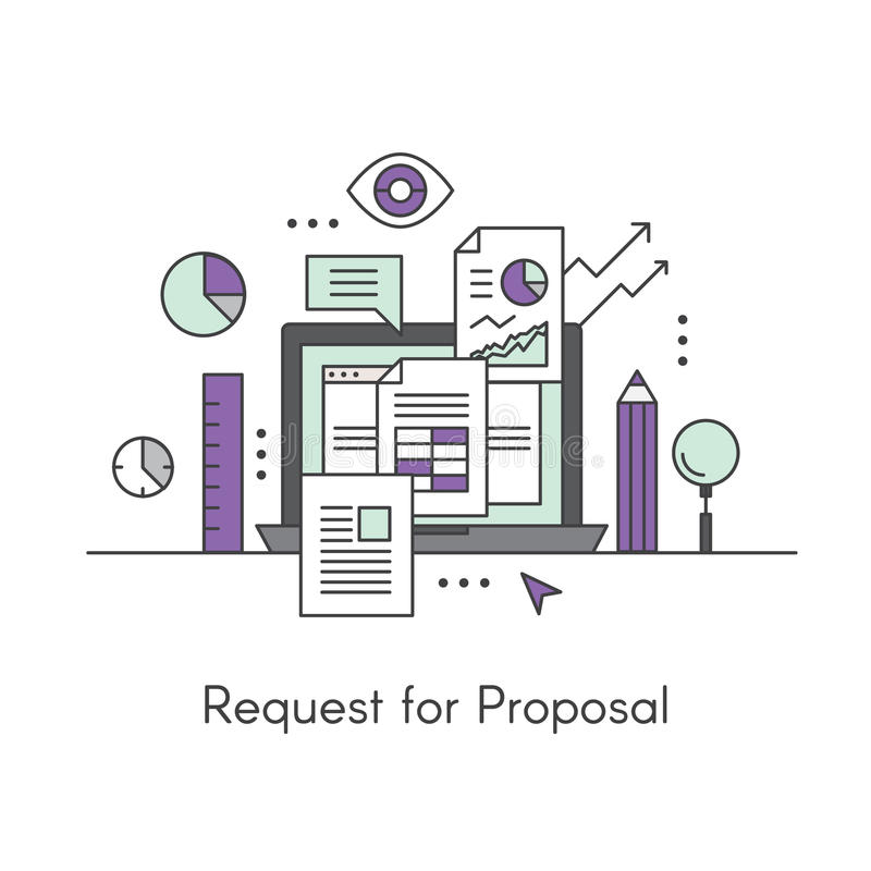 Request For Proposal Concept Stock Illustration