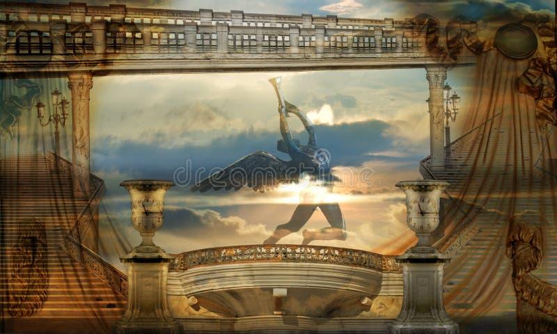 Requiem voor een droom stock illustratie