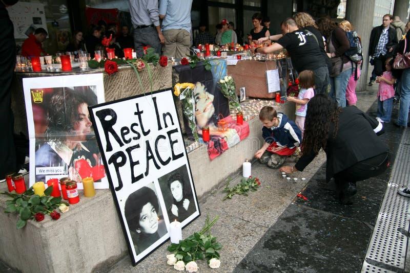 Requiems de Michael Jackson à Cologne photos stock
