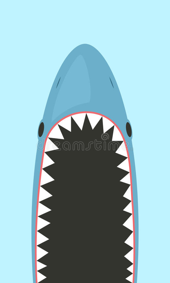 Requin avec la bouche ouverte illustration stock