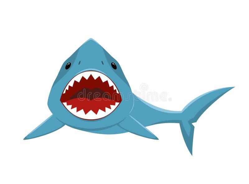 Requin avec la bouche ouverte illustration libre de droits