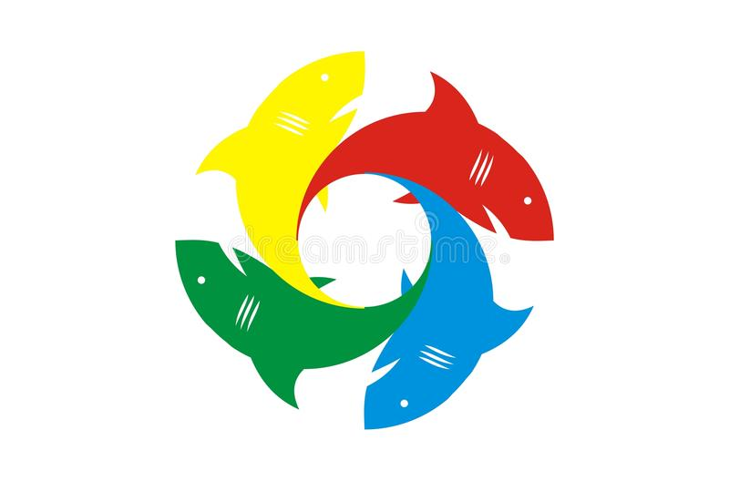 Requin coloré d'ofl image stock