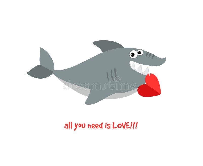 Requin de sourire amical illustration de vecteur