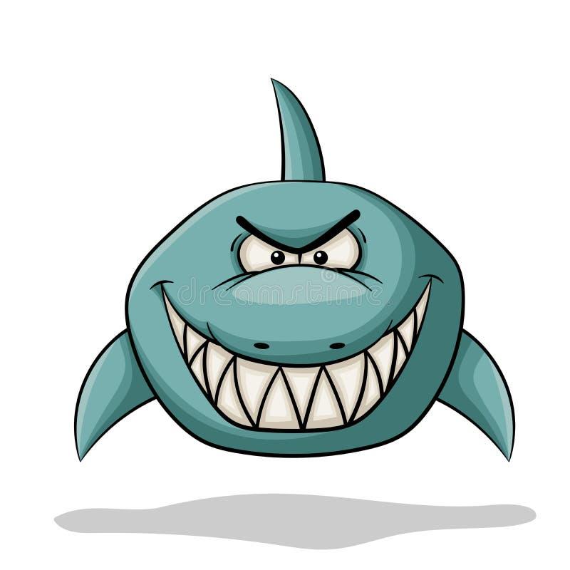 Requin f?ch? de bande dessin?e illustration libre de droits