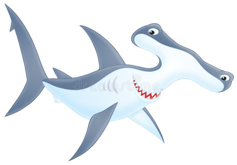 requin Marteau-dirigé illustration libre de droits