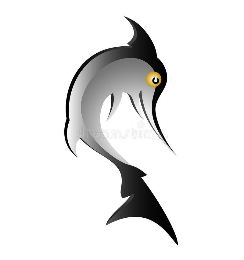 Requin noir illustration libre de droits