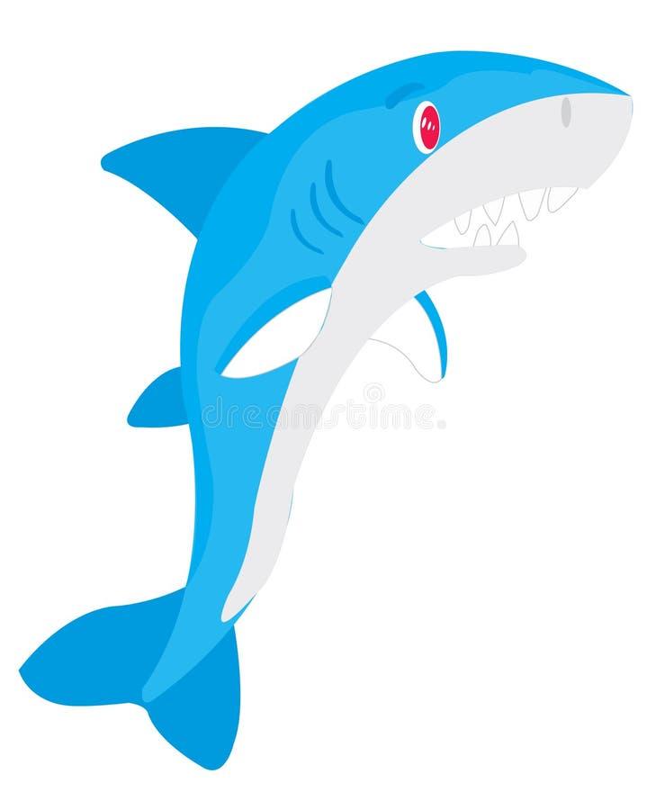 Requin vorace de poissons illustration de vecteur