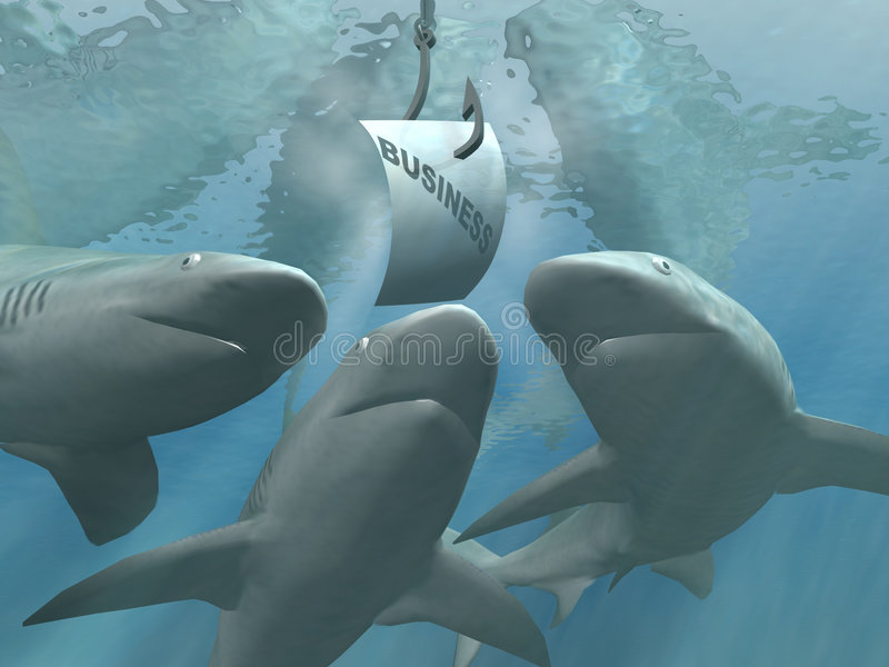 Requins d'affaires illustration de vecteur